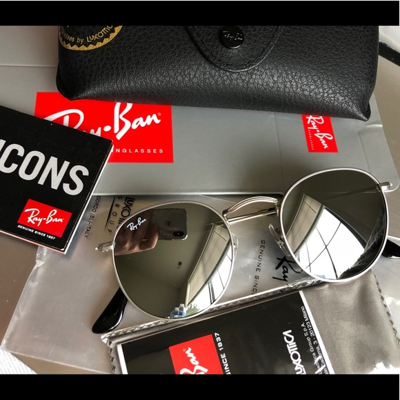 f607760068cb New RAY-BAN RB3447 ROUND METAL